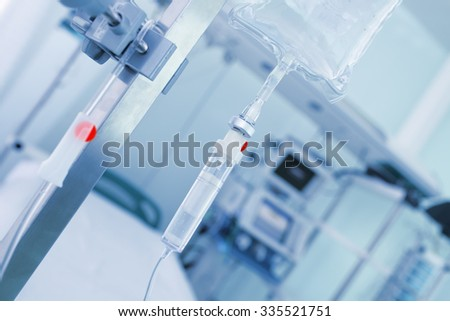 Solution in a hospital ward - stock photo