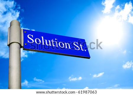 Solution Street - stock photo