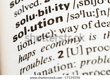 solution word - stock photo