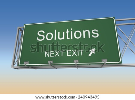 solutions - stock photo