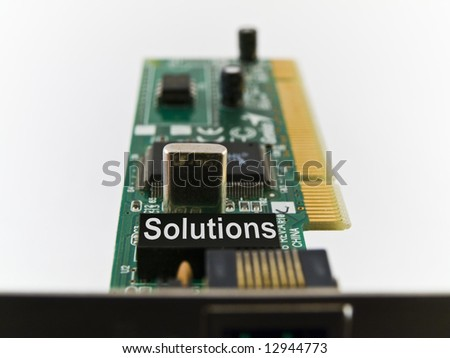 Solutions Circuit Board PCI on White Background