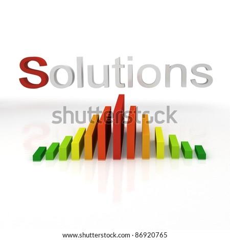 solutions energy - stock photo