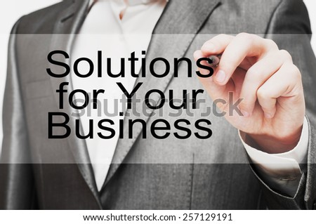 Solutions for Your Business - stock photo
