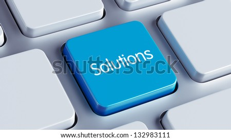 Solutions Key - stock photo