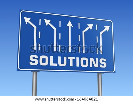 solutions sign - stock photo