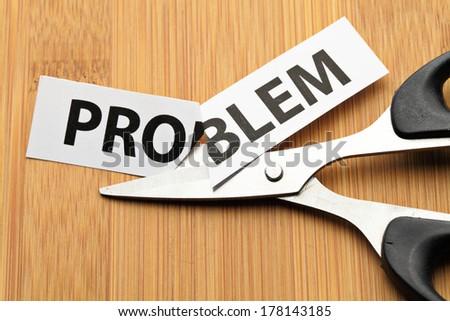 Solve problem - stock photo