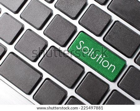 solving a problem with solution button on computer