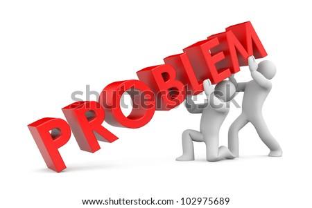 Solving the problem. Image contain clipping path - stock photo