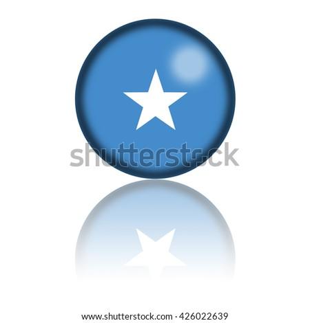 Somalia Flag Sphere 3D Rendering - stock photo