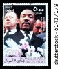 SOMALILAND - CIRCA 2008: A postage stamp printed in Somaliland showing Martin Luther King, circa 2008 - stock photo