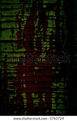 sombre wooden background flaking away - stock photo
