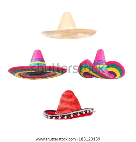 Sombreros collection. - stock photo