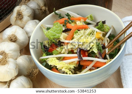 some asian mixed vegetable in a bowl