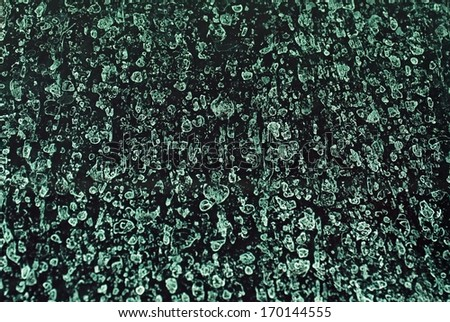 Some bacteria on a dark blue background  - stock photo