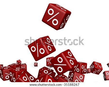 some blocks falling together - stock photo