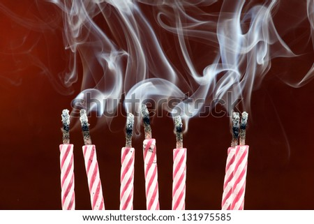Some blow out birthday candles - stock photo