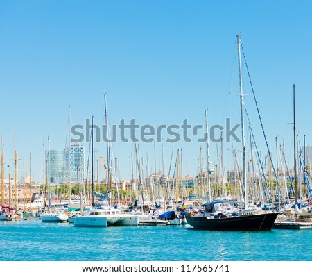 Some boats in Barcelona port