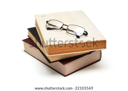 Some book and glasses - stock photo