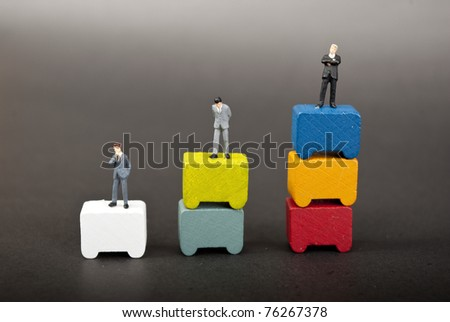 some busines people on stage - stock photo