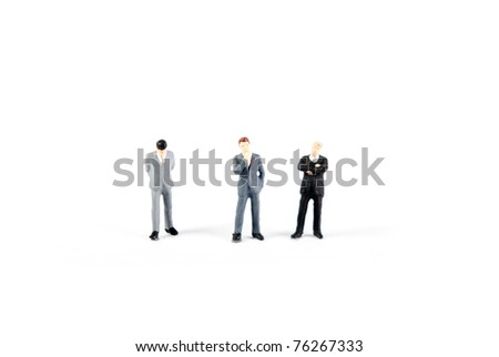 some business people on stage - stock photo