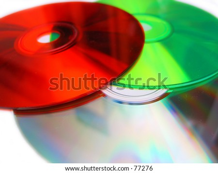 some cds - stock photo
