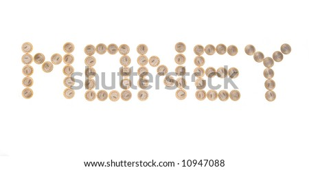 Some coins as word ?money?. Russian currency - stock photo