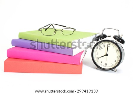 Some color boocks on white background  - stock photo