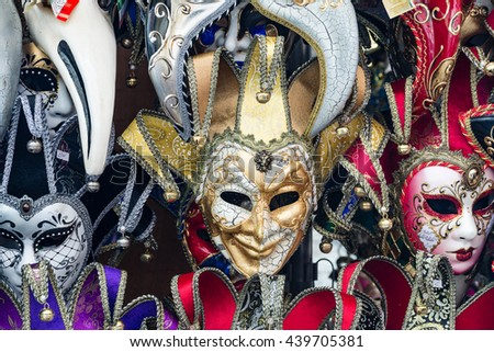 Some colorful masks for Venice carnival