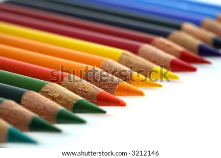 some coloured crayons