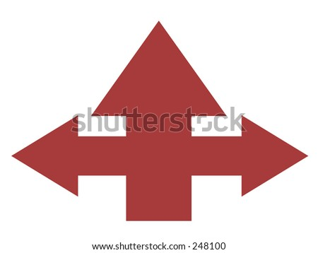 some confused arrows - stock photo
