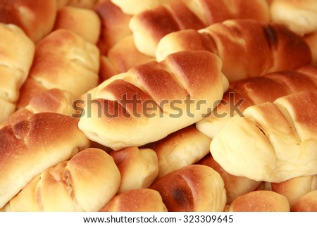 Some delicious freshly baked breads - stock photo
