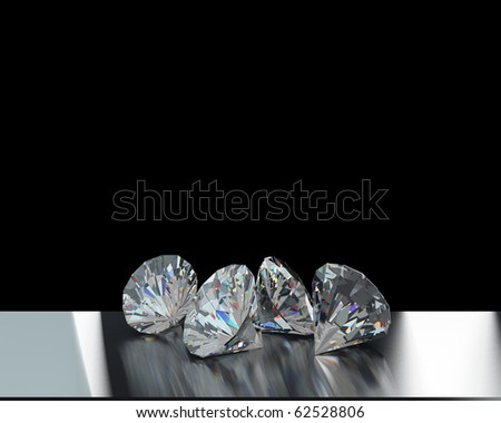 some diamonds exhibition - stock photo