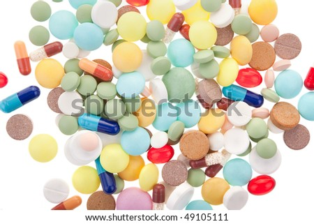 some different pills as a pharmacy background