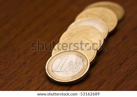Some euro cent coins - stock photo