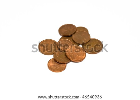 Some euro cents - stock photo