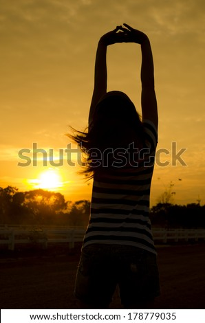 Some fresh air in the morning can make everyone to fresh&relax. Great for powerful on every day. - stock photo