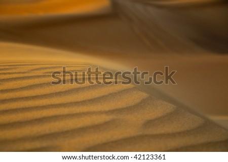 Some fresh air over a dune in the Dubai desert - stock photo