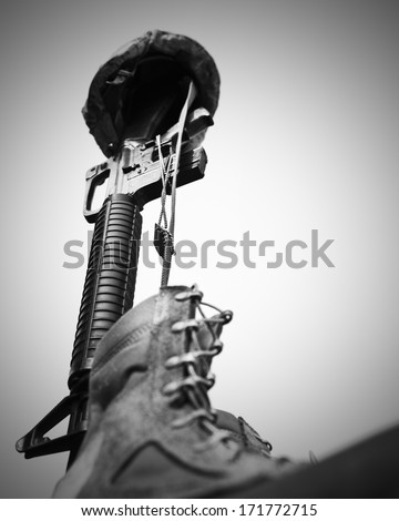 Some Gave ALL - stock photo