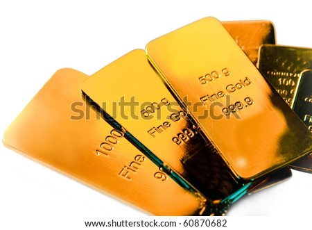Some gold bars - stock photo