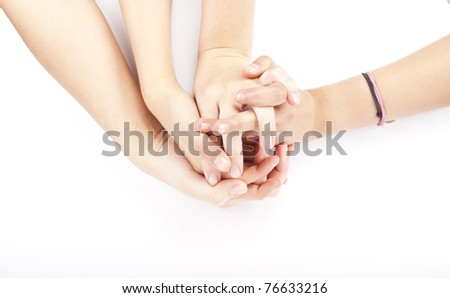 some hand's with conflict - stock photo