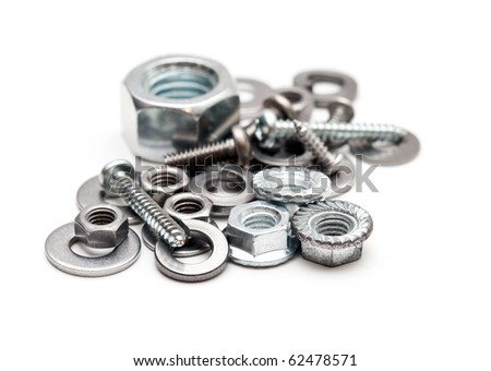 Some hardware isolated on white - stock photo