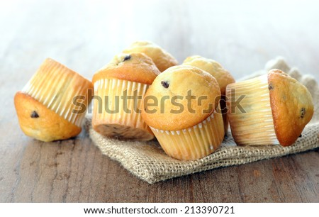 some mini muffin for breakfast in the morning  - stock photo