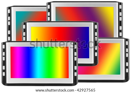 Some modern liquid crystals of displays with the image various light spectrum.