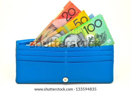 some money in wallet - stock photo