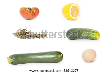 Some natural ingredients - stock photo