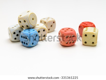some of dices rady to a game - stock photo