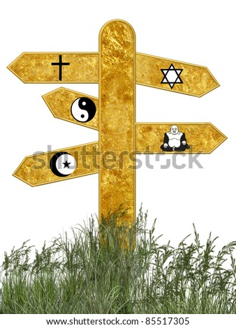 Some of the religions most big of the world - stock photo