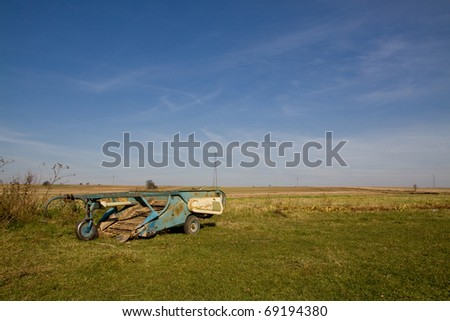 some old machine used for farming long time ago