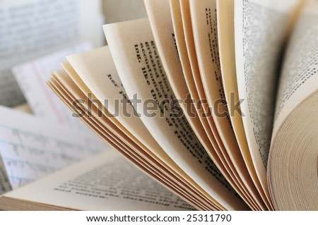 Some old pages - stock photo