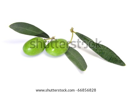 some olives isolated on a white background